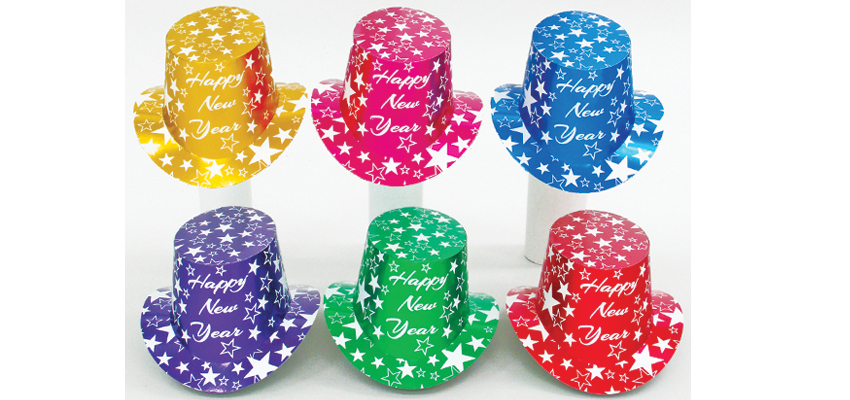 Shooting Star Foil Top Hats