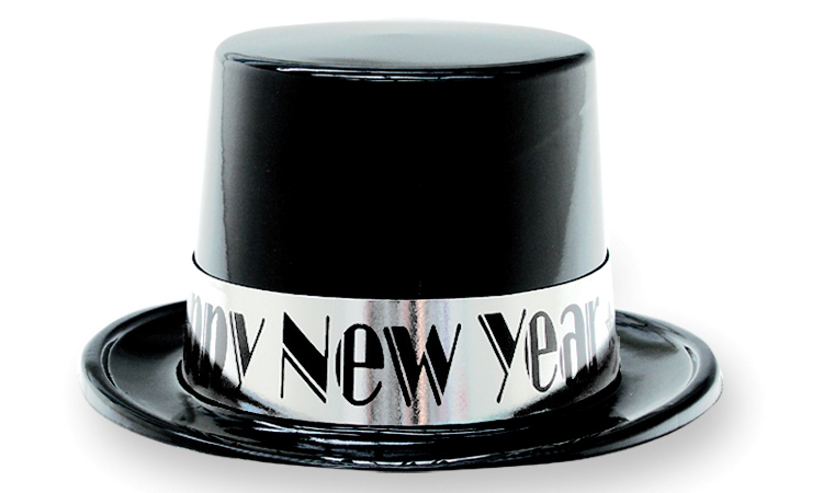 Black Plastic Top Hat