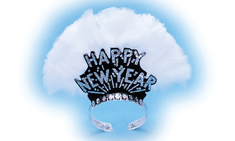 Deluxe Black Happy New Year Tiara