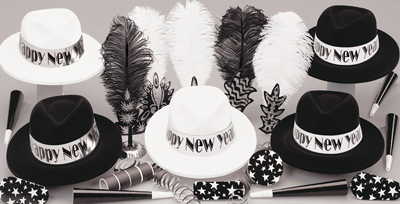 BLACK & WHITE PARTY KITS FOR 50