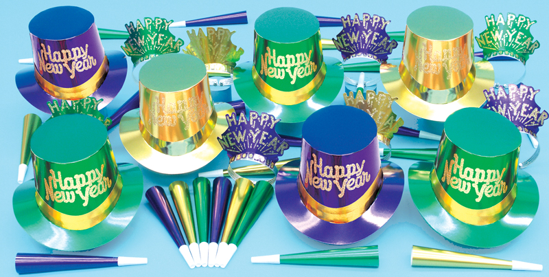 Mardi Gras Top Hat & Tiara Assortment for 50 People