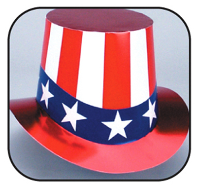 Uncle Sam Curved Brim Top Hat