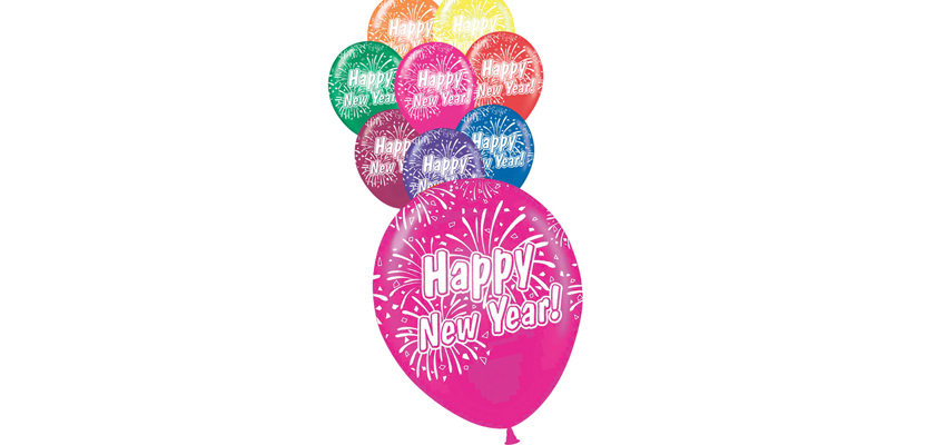 "11"" Assorted Happy New Year Balloons"