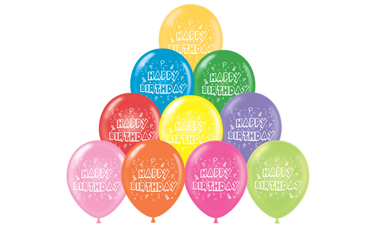 "11"" Happy Birthday Balloons"