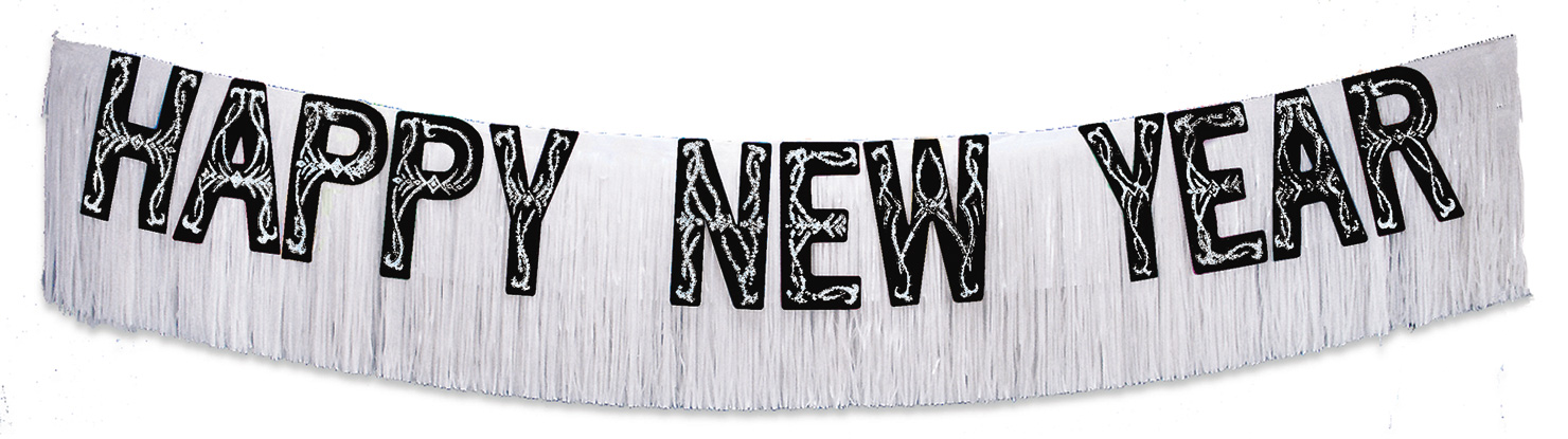 "20"" x 15' Happy New Year Banner"