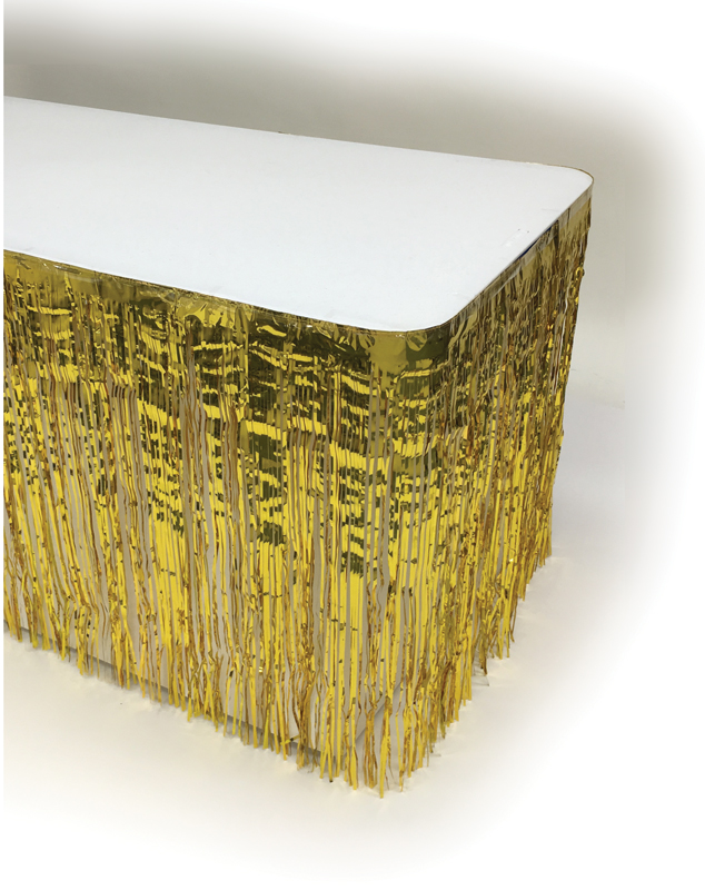 Metallic Table Skirting