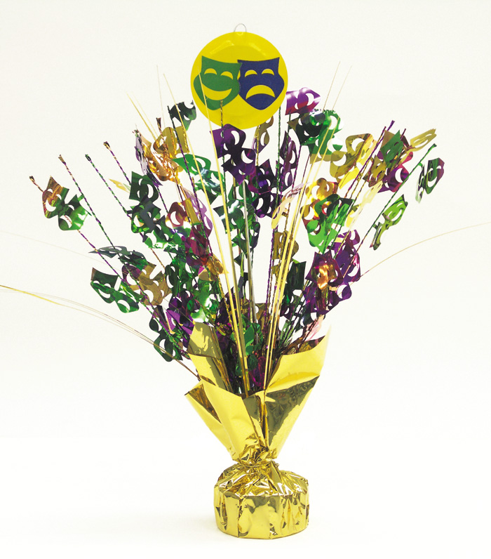 Mardi Gras Balloon Weight & Centerpiece