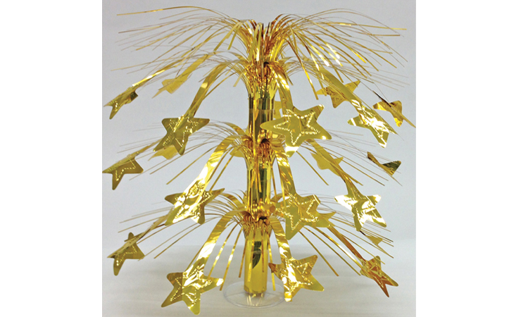 "18"" Gold Star Table Centerpiece with Stand"