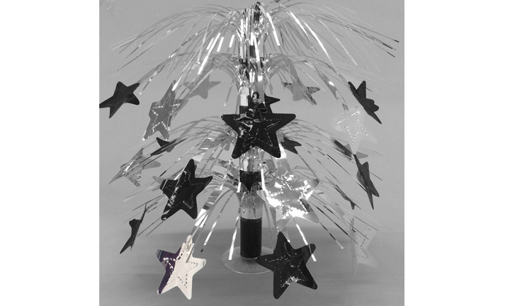 Silver & Black Star Table Centerpiece
