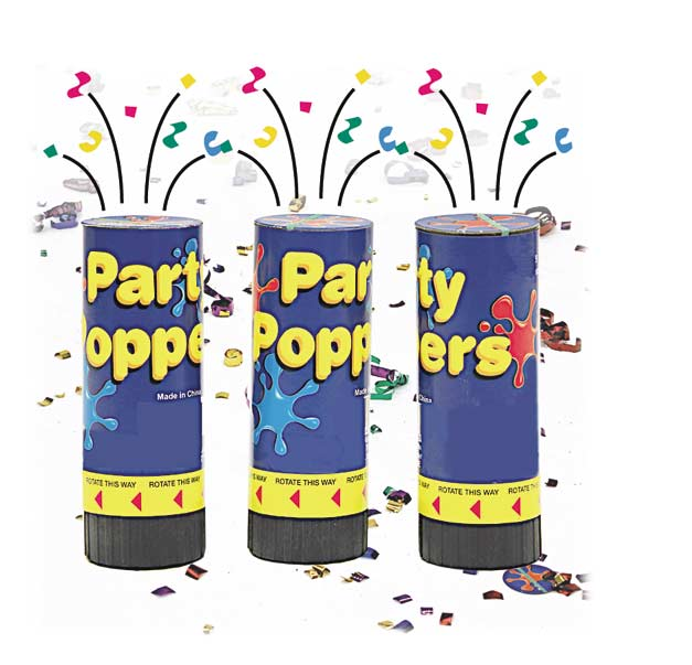 Spring Activated Party Poppers