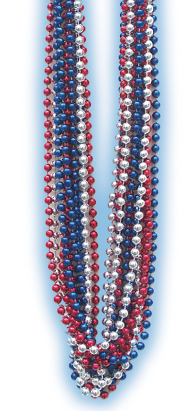 Red/Silver/Blue Beads