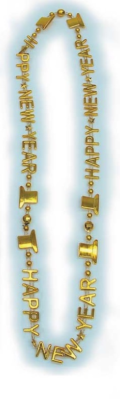 Gold Happy New Year Beads