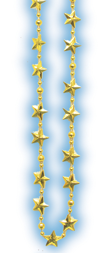 Gold Metallic Star Beads