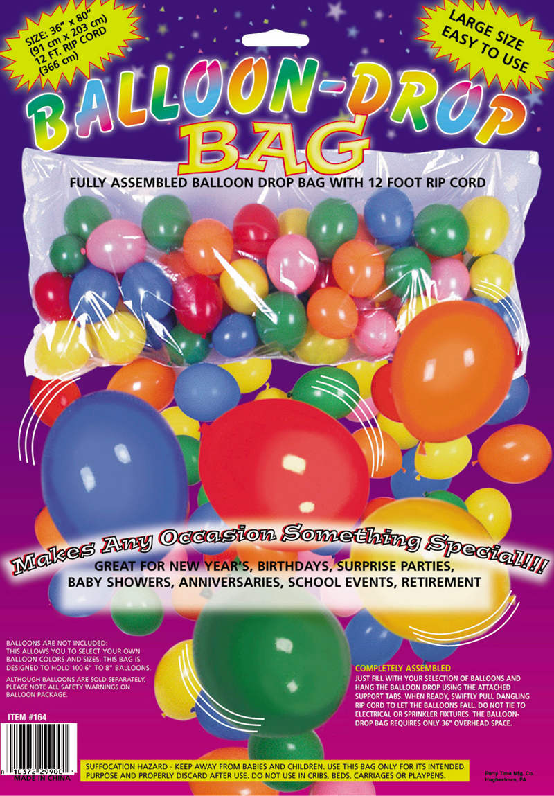Plastic Balloon Bag Drop