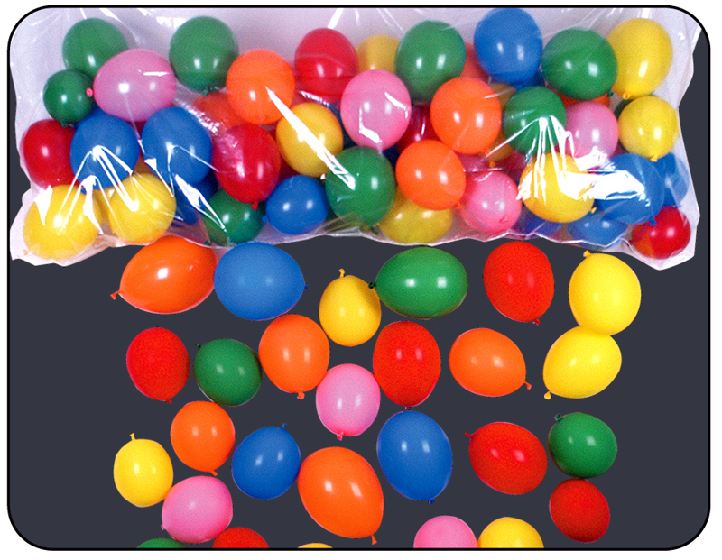 "36"" x 80"" Plastic Balloon Bag Drop & Balloons"