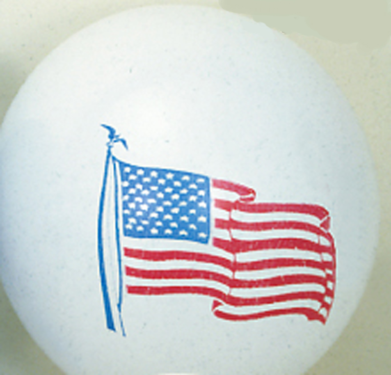 "11"" Balloon with American Flag"