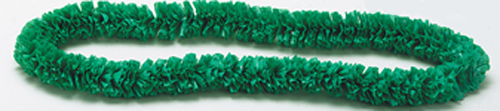Green Poly Leis