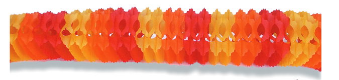 "5"" x 12' Orange Honeycomb Garland"