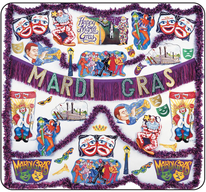 Mardi Gras Flame Resistant Decorating Kit